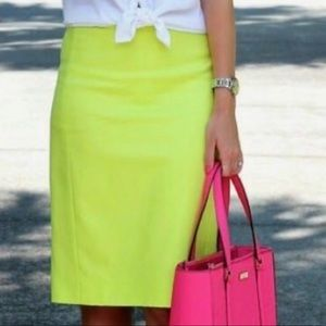 59a39762a J. Crew Bright Neon Yellow No 2 Pencil Skirt